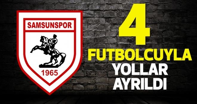Yılport Samsunspor'da dört futbolcu ile yollar ayrıldı