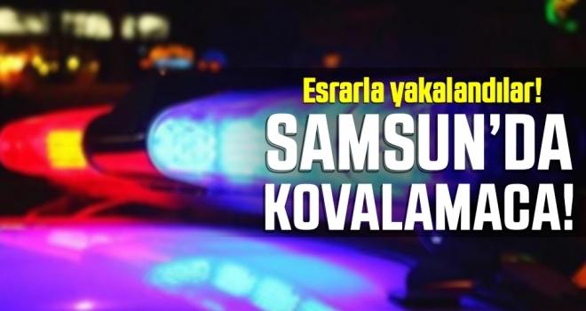 Samsun'da Polisten Kaçan Araçta Esrar Ele Geçirildi