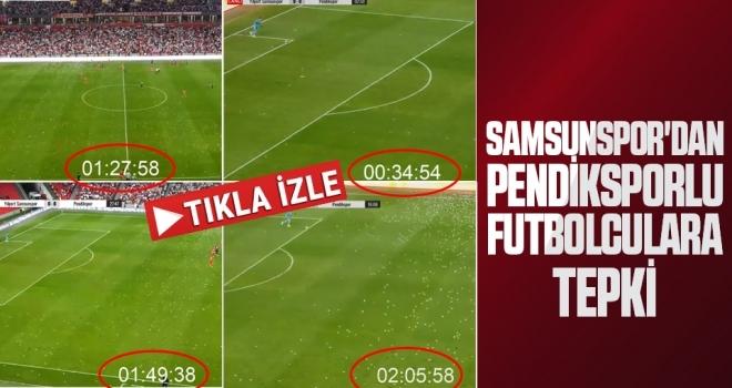 Samsunspor'dan Pendiksporlu Futbolculara Tepki