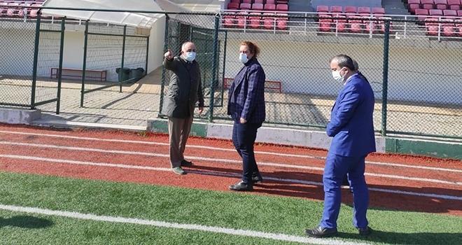 Samsun Gençlik ve Spor İl Müdürü İsmail Hakkı Kasapoğlu Tesisleri İnceledi