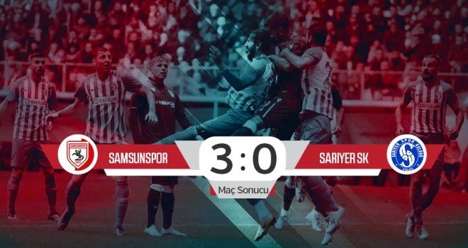 Yılport Samsunspor:3 Sarıyer:0 (Maç Sonucu)