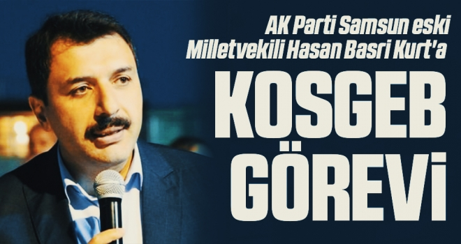 AK Parti Samsun eski Milletvekili Hasan Basri Kurt'a KOSGEB görevi