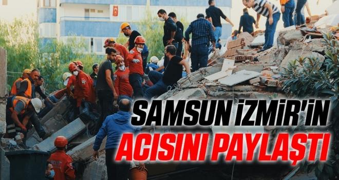 Samsun İzmir'in Acısını Paylaştı