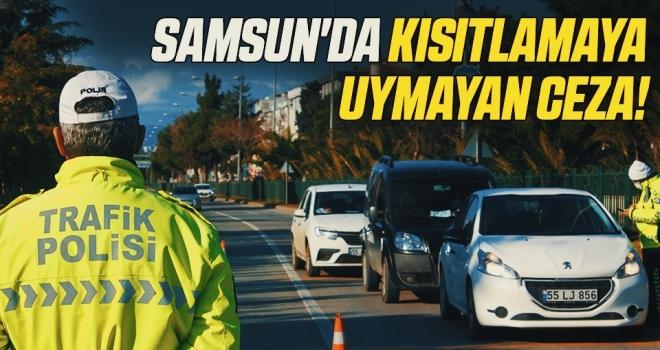 Samsun'da kısıtlamaya uymayan 713 kişiye 955 bin TL ceza