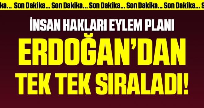 Son Dakika: Cumhurbaşkanı Erdoğan'dan İnsan Hakları Eylem Planı Tanıtım Toplantısı'nda önemli açıklamalar