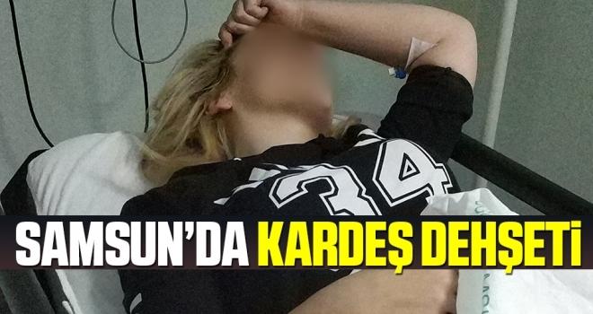 Samsun'da Genç kadın babasıyla tartışan kardeşi tarafından kazara bıçaklandı