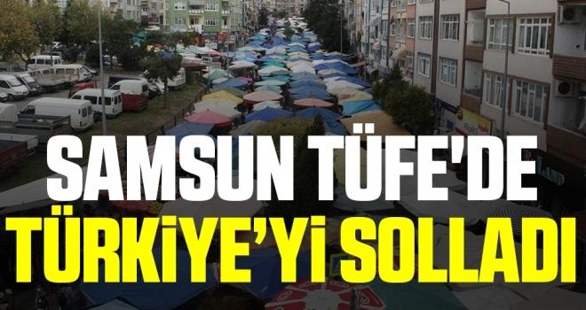 Samsun TÜFE'de Türkiye'yi solladı