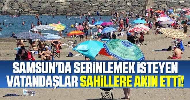 Samsun'da Serinlemek İsteyen Vatandaşlar Sahillere Akın Etti!