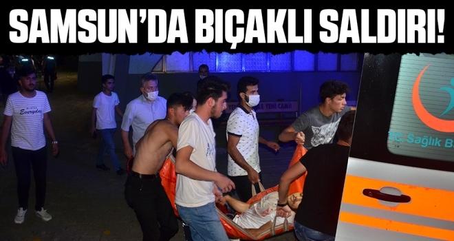 Samsun'da Cami avlusunda bıçaklı saldırı: 1 yaralı