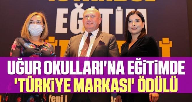 Uğur Okulları'na eğitimde 'Türkiye Markası' ödülü