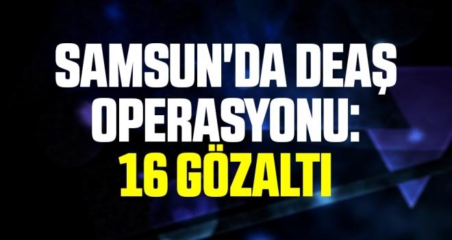 Samsun'da DEAŞ operasyonu: 16 yabancıya gözaltı