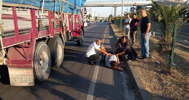 Samsun'da kamyonun çarptığı yaya ağır yaralandı