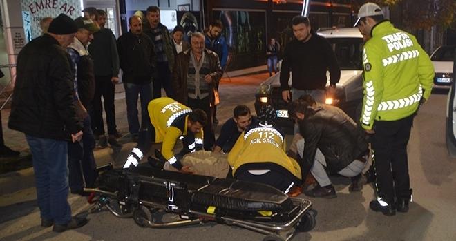 Samsun'da Otomobil ile bisiklet çarpıştı: 1 yaralı