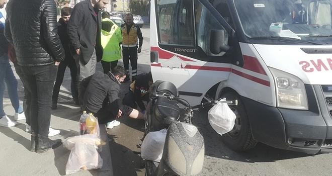 Samsun'da Cip ile elektrikli bisiklet çarpıştı: 1 yaralı
