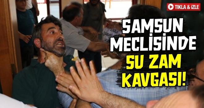 Samsun MeclisindeSu Zammı Kavgası