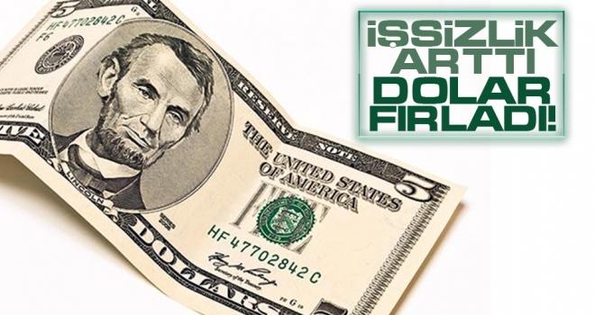 İşsizlik arttı, dolar fırladı!