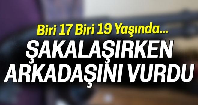 Samsun'da Şakalaşırken Arkadaşını Vurdu