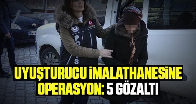 Samsun'da Uyuşturucu İmalathanesine Operasyon: 5 Gözaltı