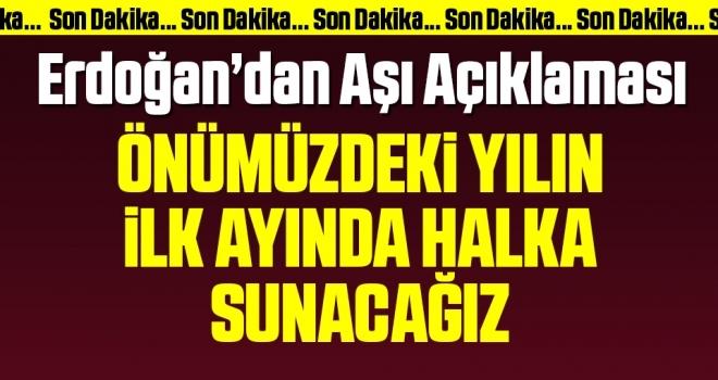 Son dakika… Kabine toplantısı sonrası Erdoğan'dan corona virüsü aşısı açıklaması!
