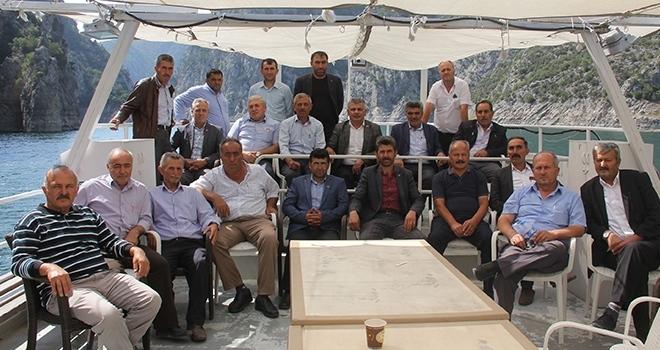 Havza Muhtarları Derneği tarafından üyelerine yönelik Şahinkaya Kanyon gezisi düzenledi