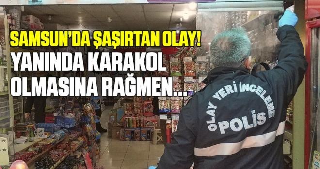 Samsun'da Hırsız, Karakolun Yanındaki Marketi Soydu