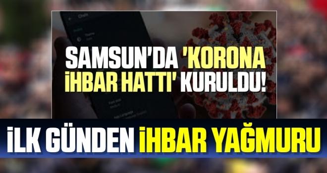 Samsun'da 'Kovid-19 Şikayet Hattı'na ihbar yağmuru