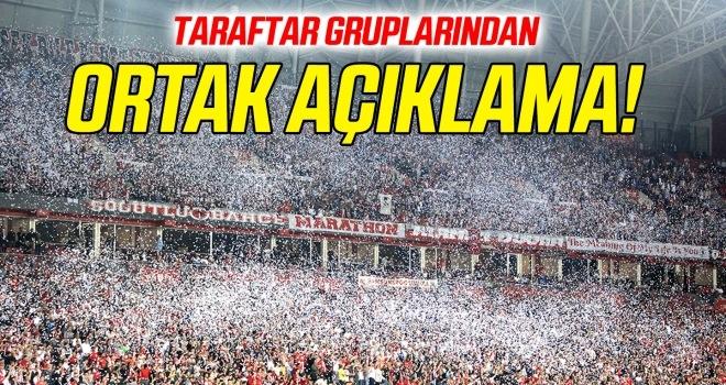 Samsunspor taraftar gruplarından ortak açıklama!
