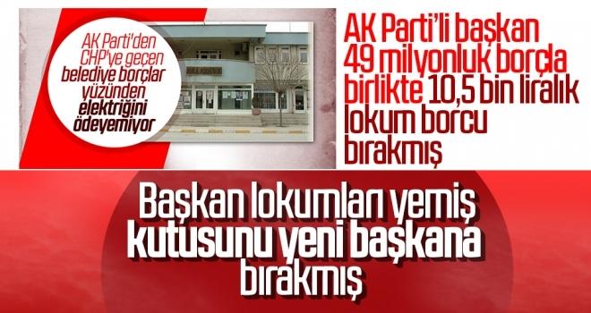 AK Parti'li başkan 49 milyonluk borçla birlikte 10,5 bin liralık lokum borcu bırakmış