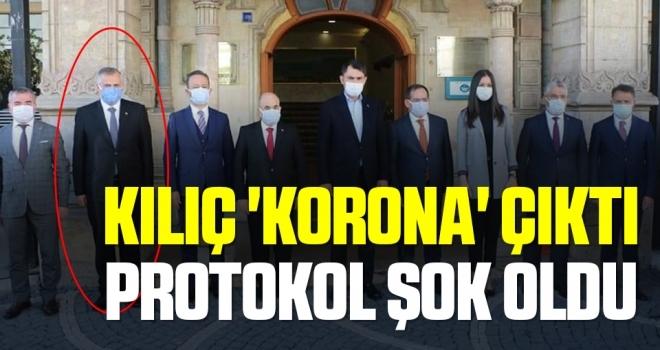 Başkan Kılıç 'korona' çıktı protokol şok oldu
