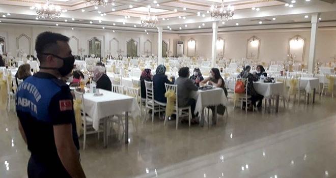 Samsun'da Zabıtadan düğün salonu denetimi