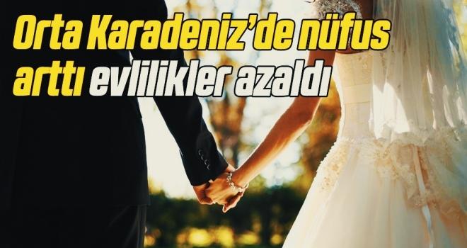 Orta Karadeniz'de nüfus arttı evlilikler azaldı