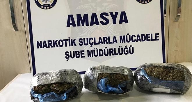 1 kilo 320 gram uyuşturucu ile yakalanan şüpheli tutuklandı