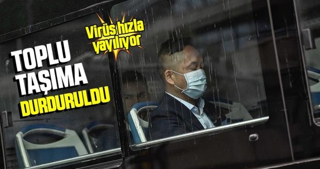 Yeni tip koronavirüs salgını nedeniyle Çin'in Vuhan ve Icou şehirlerinde toplu taşıma durduruldu