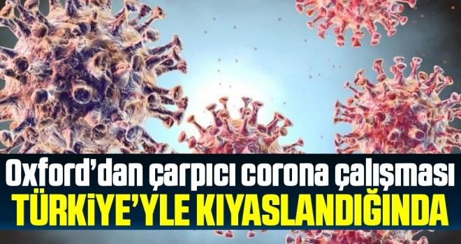 Oxford'dan çarpıcı corona araştırması! Türkiye'yle kıyaslandığında…