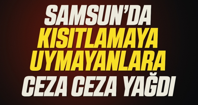 Samsun'da sokağa çıkma kısıtlamasına uymayan 154 kişiye 323 bin lira ceza kesildi
