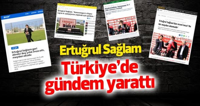 Samsunspor'un Sağlam ile anlaşması Türkiye'de gündem oldu
