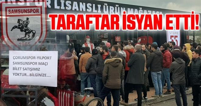 Samsunspor taraftarı isyan etti