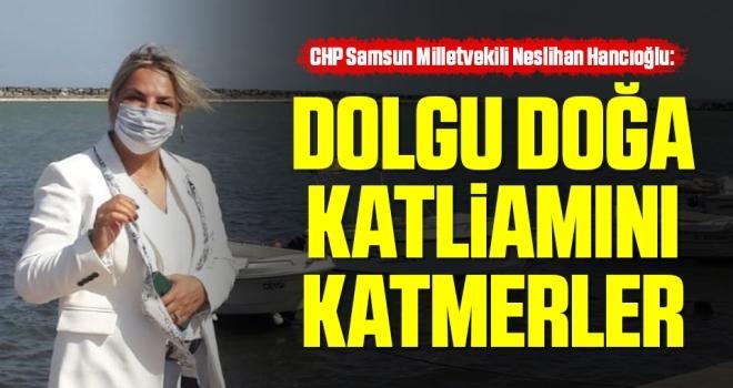 CHP Samsun Milletvekili Neslihan Hancıoğlu: Dolgu doğakatliamını katmerler