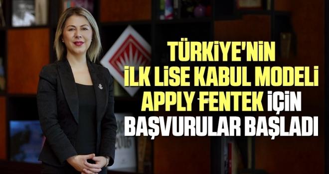 Türkiye'nin İlk Lise Kabul Modeli Apply Fentek İçin Başvurular Başladı