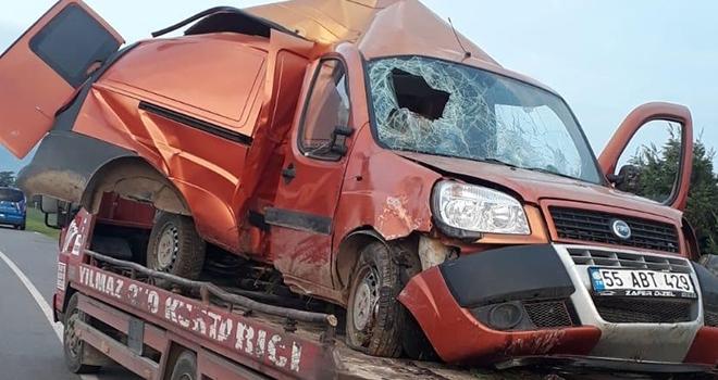 Çarşamba'da Kaza: 1 Ağır Yaralı