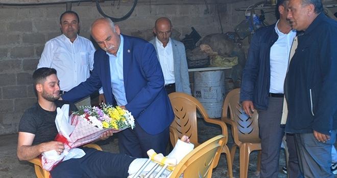 Mayına basarak yaralanan Samsunlu asker baba evinde