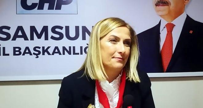 CHP Samsun Kadın Kolları Başkanı Nazan Güneysu: Kadına şiddetin sonbulduğu ülke hayalimiz