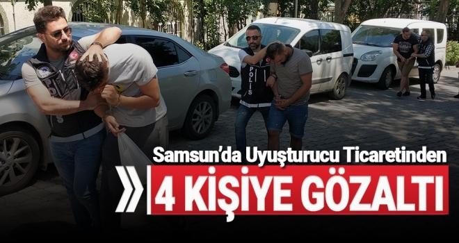 Samsun'da 4 yabancıya uyuşturucu ticaretinden gözaltı