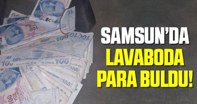 Samsun'da Lavaboda Para Buldu!