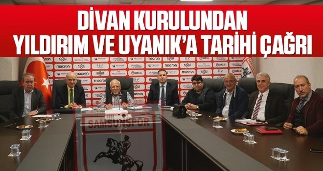 Samsunspor Haberleri | Divan Kurulundan Yıldırım ve Uyanık'a Tarihi Çağrı