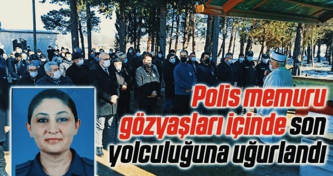 Samsunlu Polis memuru gözyaşları içinde son yolculuğuna uğurlandı