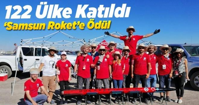 """IREC Roket Yarışması'nda """"En İyi Takım Ruhu"""" ödülü Samsun Roket Takımı'nın"""