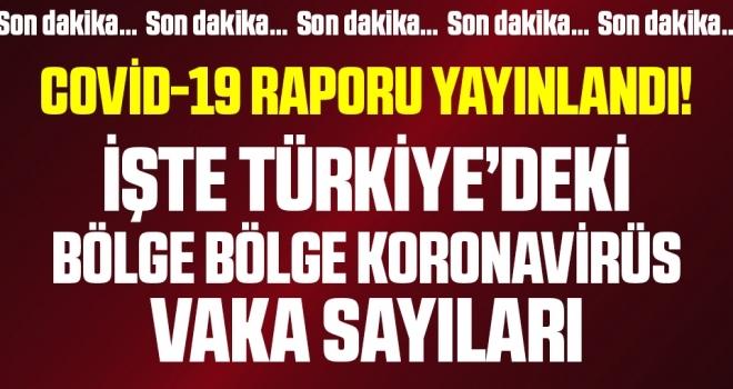 Son dakika: İşte Türkiye'deki bölge bölge koronavirüs vaka sayıları (Sağlık Bakanlığı Covid-19 Durum Raporu)