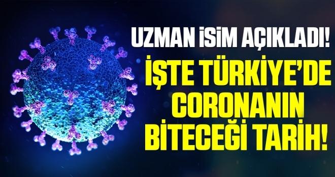 Uzman İsim Açıkladı! İşte Türkiye'de Koronanın Biteceği Tarih