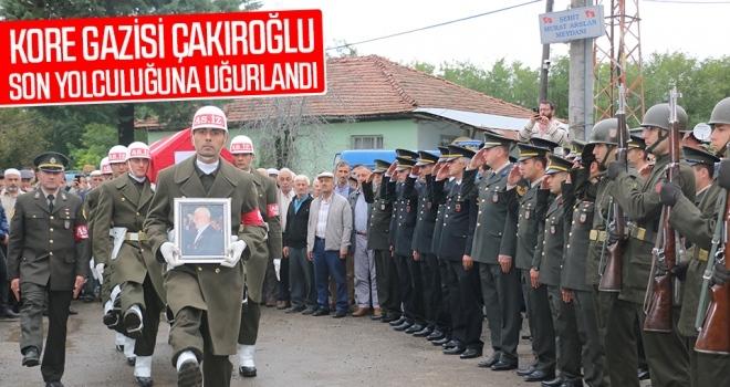 Samsun'da Kore gazisi Çakıroğlu son yolculuğuna uğurlandı.